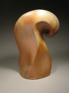Stoneware, wood-fired sculpture