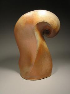 Stoneware, wood-fired sculpture