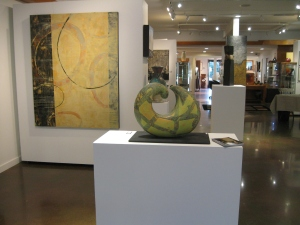 """Time Will Tell"" in foreground and a look into the rest of the Gallery"